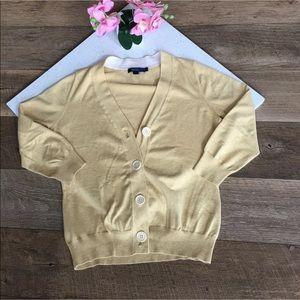 Boden cardigan button up yellow size 12
